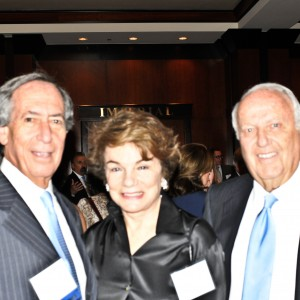 Steve Farber, (board) left, Marcia and Dick Robinson (board)