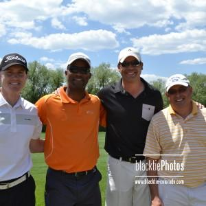 From left, Scott Forsyth, Bridge Project Board President Alec Wynne, Ryan Haith and Chuck Mastin
