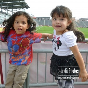 Jumping for joy over seeing a Colorado Rapids game