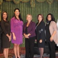 L to R: Elisa Fowler, Marney Andes, Joan Mazak, Victoria Gertelos, Giovanna Contreras