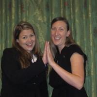 Happy Sara Szynskie and Laura Sporrer