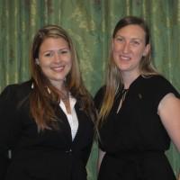 Scholarship recipients Sara Szynskie, Laura Sporrer