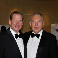 Foundation President and CEO Steve Winesett, left, with Dave Mandarich, MDC/Richmond American Homes