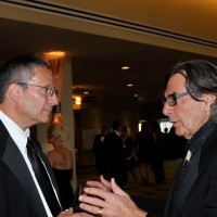 Children's Hospital CEO Jim Shmerling, left, chats with Mike Handler