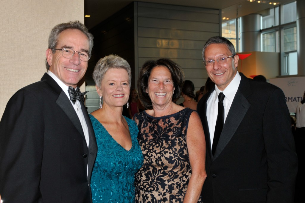 Event Chairs Bill Mosher and Molly Broeren, left, with Debbie and Jim Shmerling