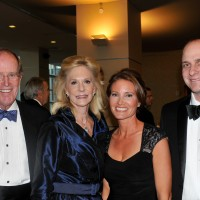 Major sponsors Ron and Cille Williams, left, with Melinda and Andrew Robinson