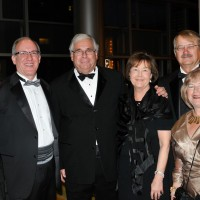 Gabriella Defurio, left, her dad Anthony Defurio, Dr. Richard and Mary Krugman, Roger White, Ann King White
