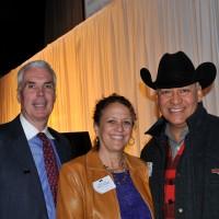 Kenton Kuhn, left, his wife Nancy Hopper and Pete Martinez