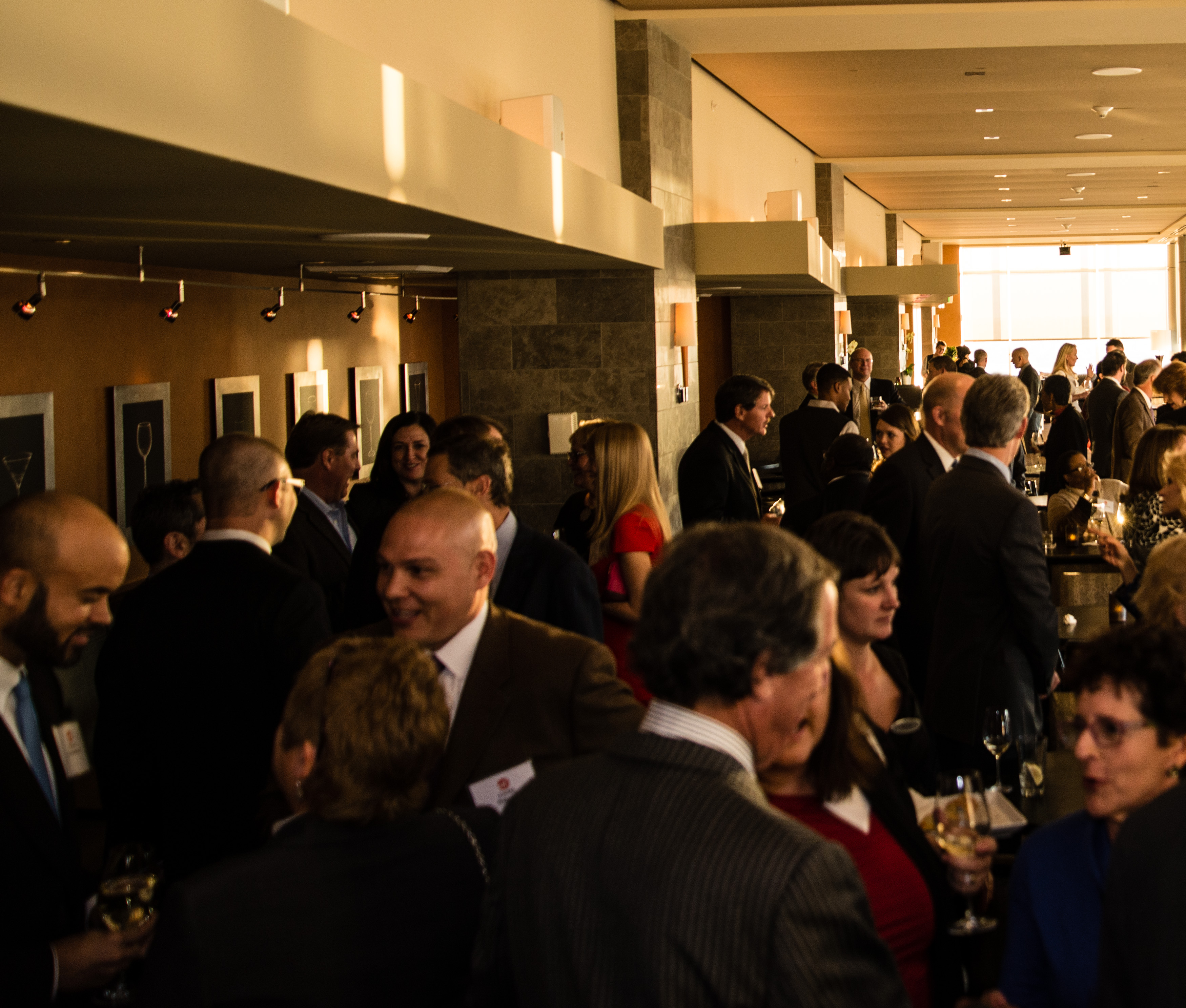 Denver Foundation: Guests Mingle In The Peaks Lounge During The Ed Gala VIP