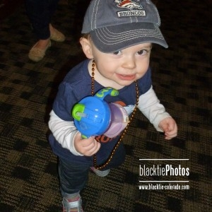 With her Denver Broncos hat on and sippy cup in hand, Isabel is ready to cheer on the Broncos.