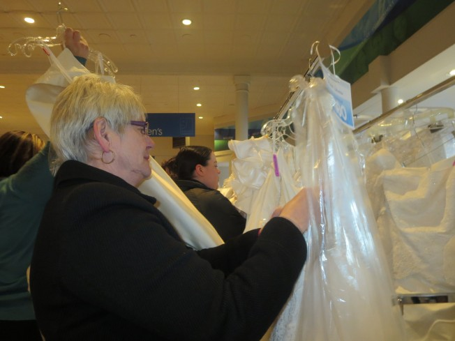 Old and young were looking for the perfect wedding dress for Donate wedding dress goodwill