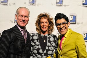 Pam Cress at the Goodwill Fashion Show with Tim Gunn, left, and Mondo Guerra