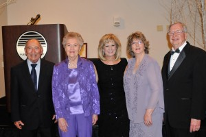 2014 Hall of Fame inductees Art and Lorraine Gonzales, left, and Paulette and Jim Stuart, right, with PCC President and CEO Patty Erjavec in center