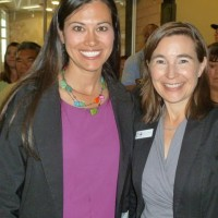 Co-emcee Stella Peterson (left) with CEO Lea Ann Reitzig