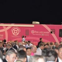 """UCHealth's """"Pink Life Saver"""" mobile mammography van"""