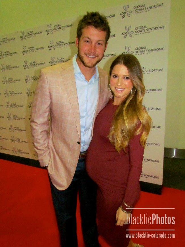 Broncos punter Britton Colquitt and wife, Nikki
