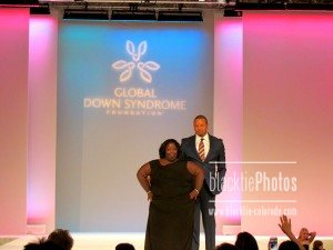 Howard with DeOndra Dixon, Global Down Syndrome Foundation Ambassador
