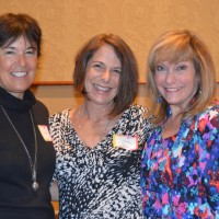 TriCuzz Productions' three cousins (l to r): Nancy Alterman, Cheryl Hiltzik and Mitzi Townshend were honored on stage.