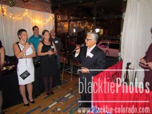 Jerry Natividad talking to the guests