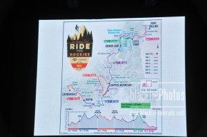 The 2016 Ride the Rockies Route Map