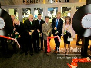 Ribbon-cutting with John and Paige Elway