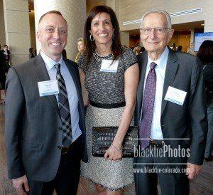 Event Co-Chairs: Aaron Hyatt, left, Leanna Harris and Stanton Rosenbaum (4th Chair, Jim Miller, was not in attendance)