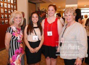 PCC President Dr. Patty Erjavec, left, Jacquelyn Arellano, Alaina Saylor, Rita Friberg