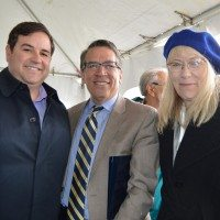 Lakewood Mayor Adam Paul (left); keynote speaker and HUD regional director, Rick Garcia; and Archway executive director Joyce Alms-Ransford