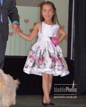 Izabella strikes a pose in her pretty spring dress.