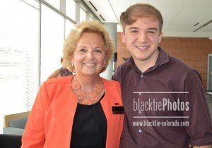 Founder of Wings of Hope for Pancreatic Cancer Maureen Shul, with keynote speaker Jack Andraka