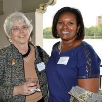 Board presidents Mary Anderies, left, (Archway board) and Yvette Craddock (Archway Investments Corporation board)