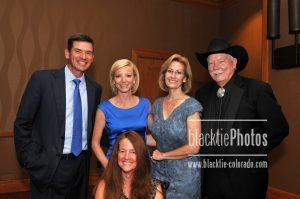 Keynote speaker Kim Ball (center), Tom Green, Kim Posey, CEO Gina Berg, Gary Corbett