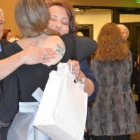 There were lots of hugs at the VIP reception.