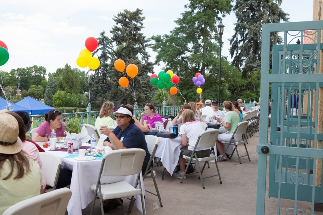 The Terrace At Denver City Park Pavilion Provided A Relaxing Spot To Enjoy Post Walk Breakfast And Conversation