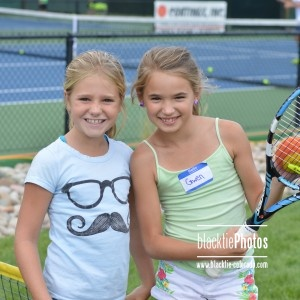 Aspiring youth tennis players, Charlotte and Gwen