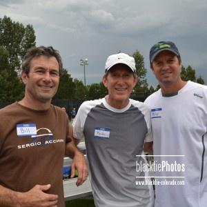 Tennis pro headliners, Bill Scanlon, Keith Christman and Philip Farmer