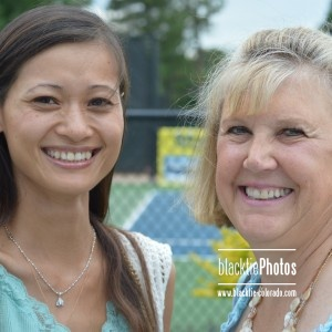 Tennis with the Stars founder LoAn Vo with Nancy Sayre