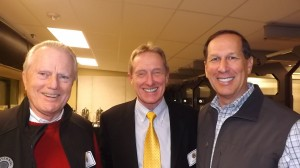 Don Sieke, left, Bob Koontz, and Larry DiPasquale at the Barbara Brooks party
