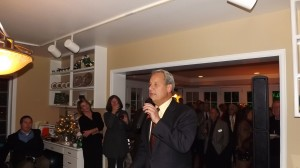 Mayor of Cherry Hills Doug Tisdale at the McNicholas party