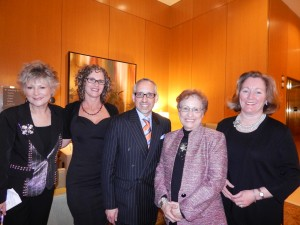 Susan Stiff, left, and Steve Edmonds and friends at the Citizen of the Arts event