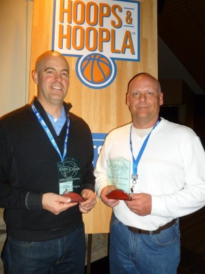 Honorees: Heart of a Champion award, Bill Gregor (left); and Rookie of the Year, Ryan Wilson
