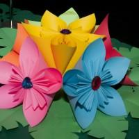 G Paper flowers center piece_6507