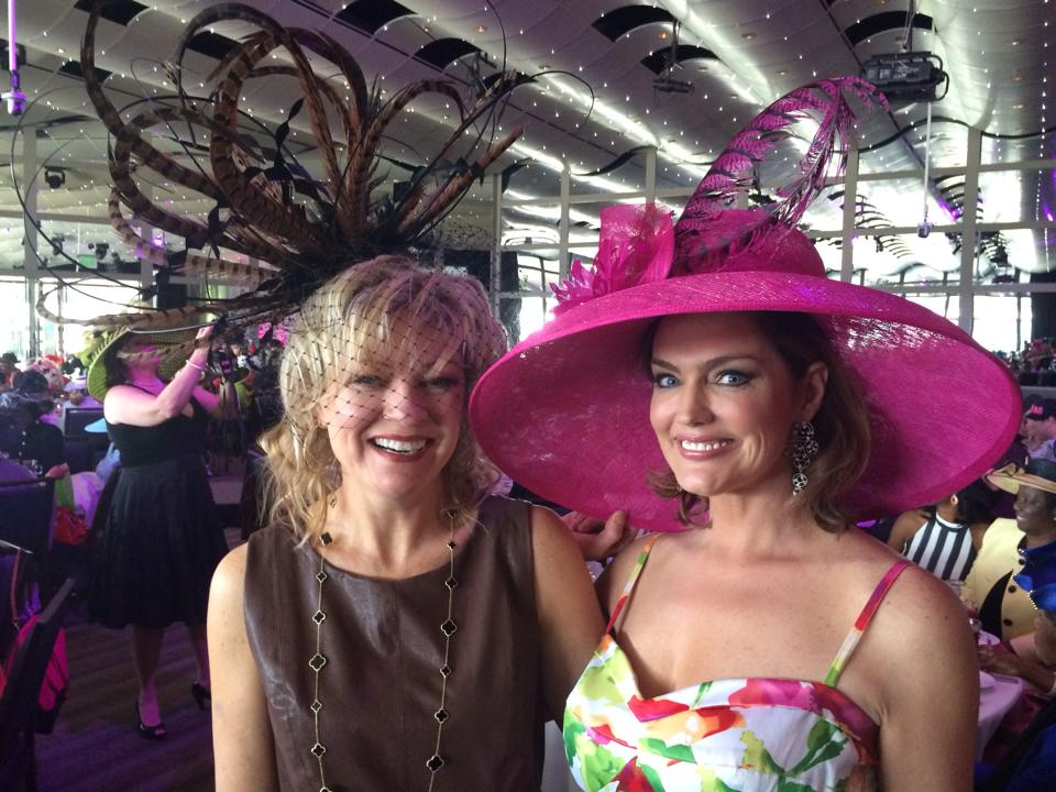 "Denise Snyder and Denise Plante at ""Hattitude"""