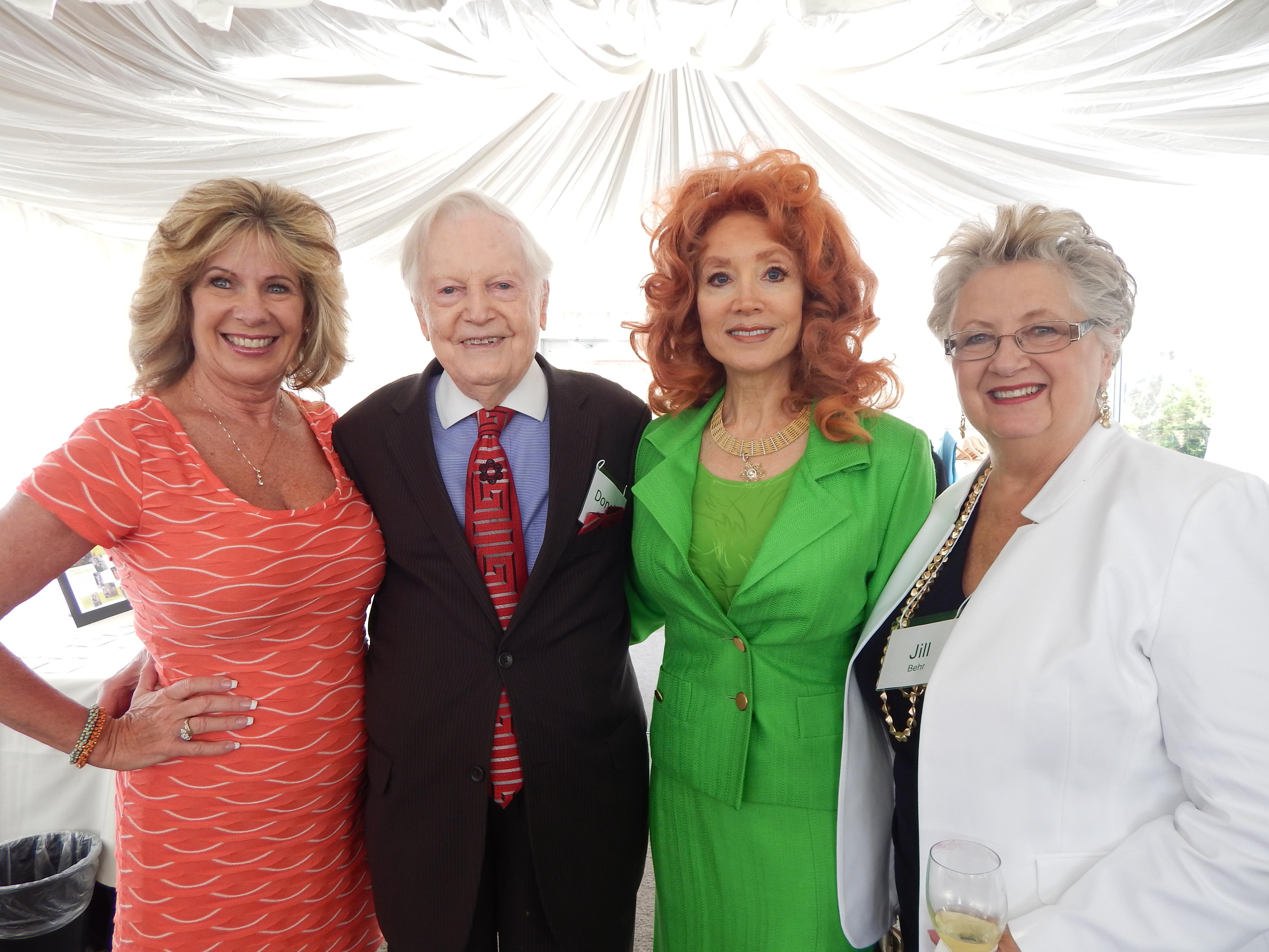 Terri Fisher, Donald Seawell, Judi Wolf, & Jill Behr