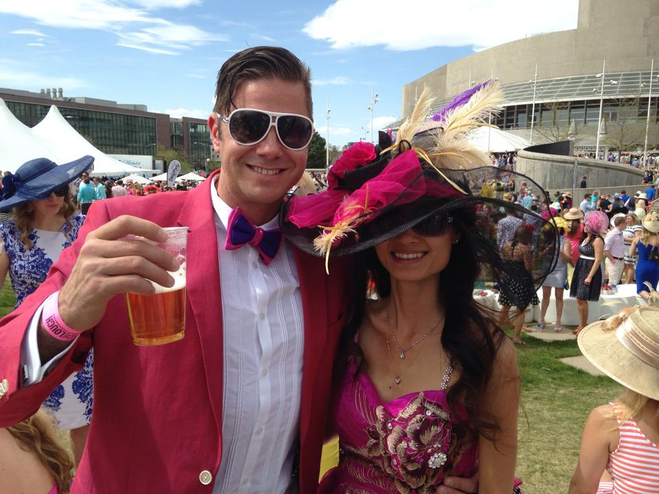 Loan Vo and Dave Zwyer at the Sean Lough Foundation Denver Derby Party