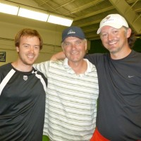 (l to r): Meadow Creek member Brian Mikkelson, with teaching pros Doug Rees and Ashley Tindle
