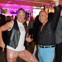 Tim Wachuta (left) and John Fenley. Move over, John Travolta!